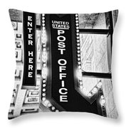 Usps Enter Here Throw Pillow