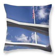 Uss Arizona Memorial Throw Pillow