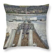 Uss Arizona Memorial-pearl Harbor V4 Throw Pillow