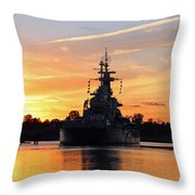 Uss Battleship Throw Pillow