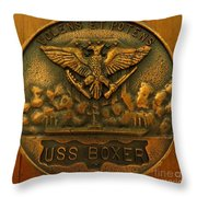 Uss Boxer Plaque Throw Pillow