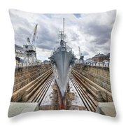 Uss Cassin Young Throw Pillow