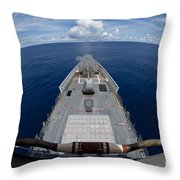 Uss Cowpens Fires Its Mk 45 Mod 2 Gun Throw Pillow