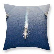 Uss George Washington, Uss Mobile Bay Throw Pillow