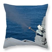 Uss Harry S. Truman Tests The Close-in Throw Pillow