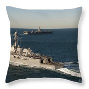 Uss James E. Williams Is Underway Throw Pillow