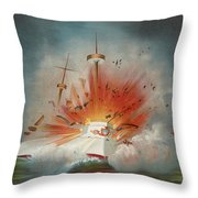 Uss Maine Circa 1898  Throw Pillow