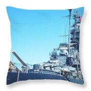 U.s.s Massachusetts  Throw Pillow