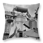 Uss Missouri- Radar System Throw Pillow
