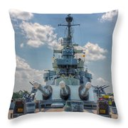 Uss North Carolina Throw Pillow
