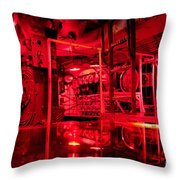 Uss Pampanito Control Room Throw Pillow