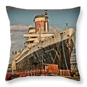 Uss United States Throw Pillow