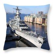 U S S Wisconsin B B 64 Throw Pillow