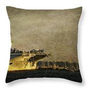 Uss Yorktown Cv10 Throw Pillow