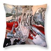 Utah Chrome Throw Pillow