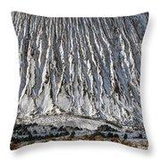 Utah Copper Mine Tailings Pile In Winter Throw Pillow
