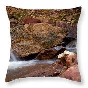 Utah Creek Cascades Throw Pillow