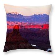 Utah Desert Sunset Panorama Throw Pillow