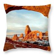Utah Golden Arches Throw Pillow