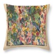 Utah Map Vintage Watercolor Throw Pillow