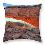 Utah Morning Pastels Throw Pillow