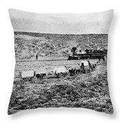 Utah Railroad, 1869 Throw Pillow