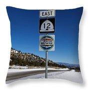 Utah Scenic Highway 12 In Snow Throw Pillow