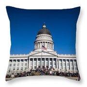 Utah State Capitol Building Throw Pillow