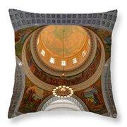Utah State Capitol Rotunda Interior Archways Throw Pillow by Gary Whitton