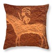 Ute Rider 1800s Throw Pillow