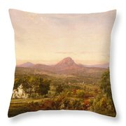 Autumn Landscape Sugar Loaf Mountain. Orange County  New York Throw Pillow