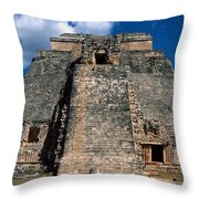 Uxmal Ruins Throw Pillow