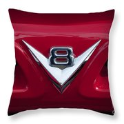 V Eight Red Throw Pillow