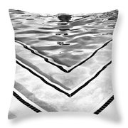 V Shape 2 Palm Springs Throw Pillow