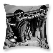 V-twin Engine Throw Pillow