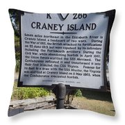 Va-k266 Craney Island Throw Pillow