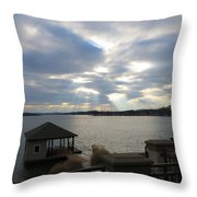 Va March Sunset Throw Pillow