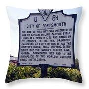 Va-q8i City Of Portsmouth Throw Pillow