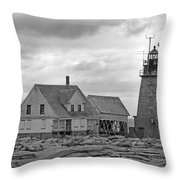 Vacant On The Ocean Throw Pillow by Betsy Knapp