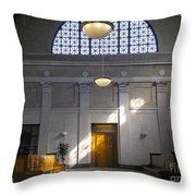 Vacant Railroad Station Throw Pillow