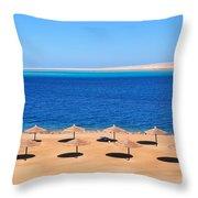 Parasol At Red Sea,egypt Throw Pillow
