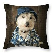 Vacation Dog Throw Pillow