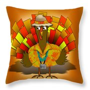 Vacation Turkey Illustration Throw Pillow