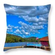 Vacationing On Big Moose Lake Throw Pillow