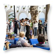 Vacations In Nerja On Costa Del Sol Throw Pillow