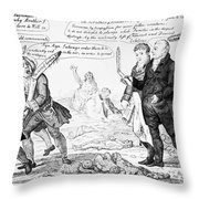 Vaccination Cartoon, 1808 Throw Pillow