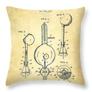 Vacuum Tube Patent From 1905 - Vintage Throw Pillow