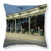 Vacuums At Car Wash Throw Pillow