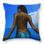 Vahine De Tahiti Throw Pillow