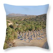 Vai Beach Throw Pillow